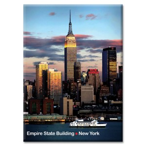 Empire State Building and New Yorker New York Photo Magnet