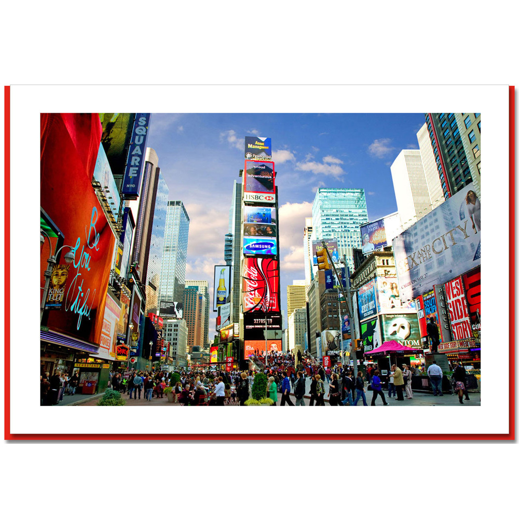 Times Square North New York – NY Christmas Photo Cards