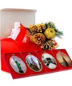 New York City Landmarks Christmas Ornaments Gift Set from NY Christmas Gifts
