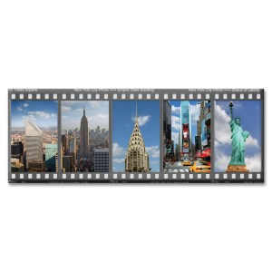 New York City Filmstrip Color Photo Magnet from NY Christmas Gifts