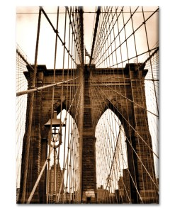 Ropes of Brooklyn Bridge New York Photo Magnet from NY Christmas Gifts