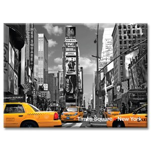 Taxi on Times Square North I New York Photo Magnet