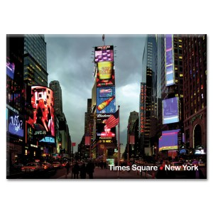 Times Square Evening New York Photo Magnet from NY Christmas Gifts