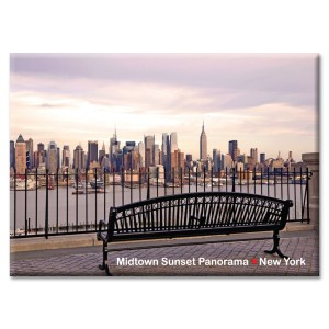 View at Manhattan from the Bench New York Photo Magnet from NY Christmas Gifts