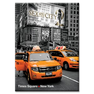 Yellow Cabs on Times Square II New York Photo Magnet