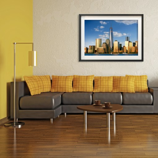 1WTC Freedom Tower Downtown Sunset New York Room Decor