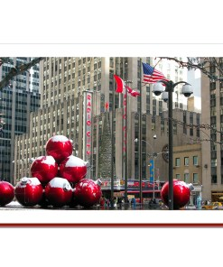 Radio City Christmas Decoration At Radio City Hall Handmade Christmas Card - HPC-2886