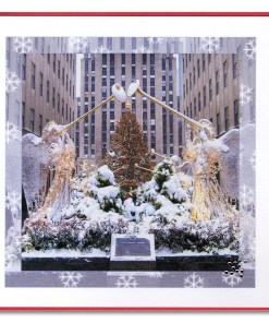 Rockefeller Center Christmas Day Handmade Cards HHC9957 from NY Christmas Gifts