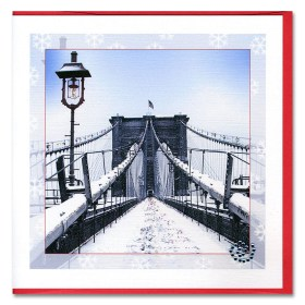 The Brooklyn Bridge Handmade Card HHC9302 from NY Christmas Gifts