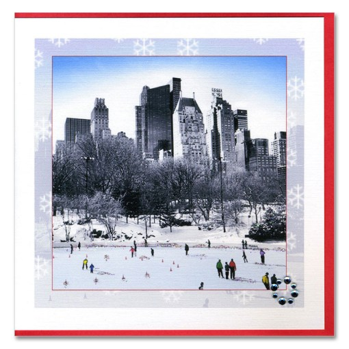Wollman Rink Central Park Handmade Card HHC9923 from NY Christmas Gifts