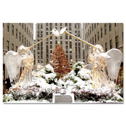Angels at Rockefeller Christmas Tree Art Print MP-2110