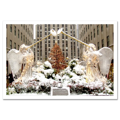 Angels at Rockefeller Christmas Tree Art Print Poster MP-2110