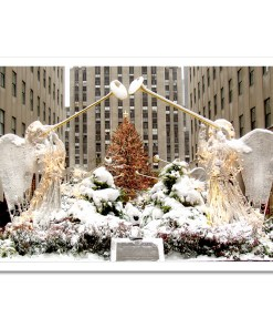 Angels at Rockefeller Christmas Tree Art Print Poster MP-2110