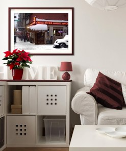 Back Fence Classic Rock Caffee Art Print Poster Living Room