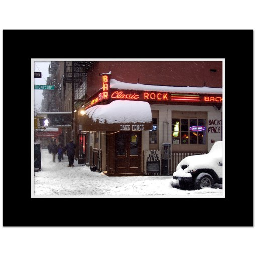 Back Fence Classic Rock Caffee Art Print Poster MP-1441 Black Mat