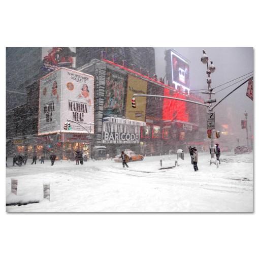 Blizzard on Times Square Art Print MP-1050