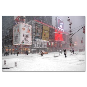 Blizzard on Times Square Art Print MP-1050