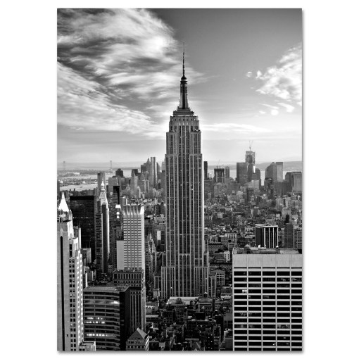 Empire State Building Black and White Art Print MP-1019