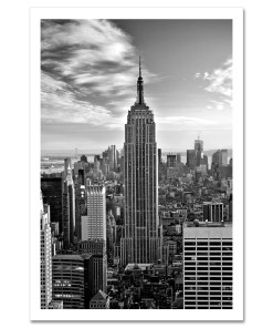 Empire State Building Black and White Art Print Poster MP-1019