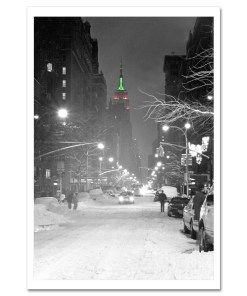 Empire State Building Christmas New York Art Print Poster MP-1149