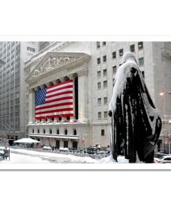 George Washington Wall Street Winter Art Print Poster MP-2116