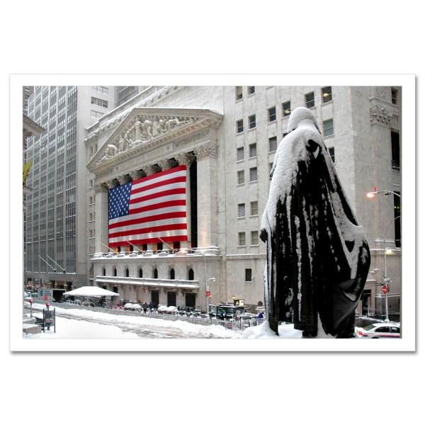 George Washington Wall Street Winter York Art Print