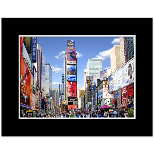 Times Square Panorama Art Print Poster MP-1229 Black Mat