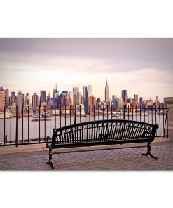 View from Bench Midtown Manhattan New York Art Print MP-2132