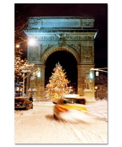 Washington Arch Christmas Tree New York Art Print MP-1902