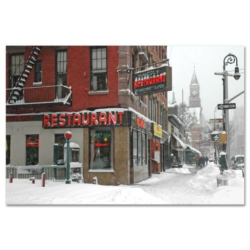 Waverly Restaurant Winter Art Print MP-1413