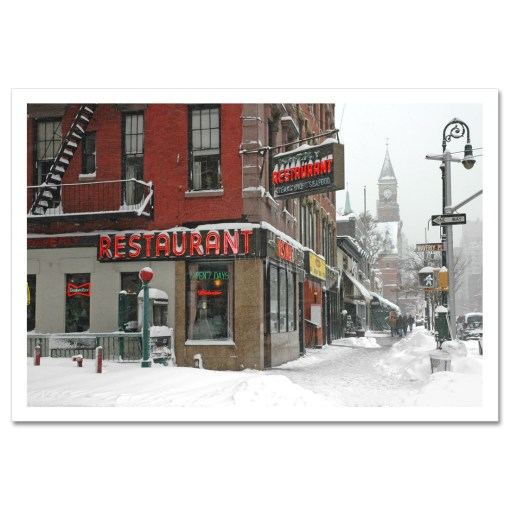 Waverly Restaurant Winter Art Print Poster MP-1413