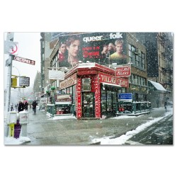 Winter at Village Cigars New York Art Print MP-1036
