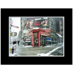 Winter at Village Cigars Art Print Poster MP-1036 Black Mat