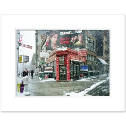 Winter at Village Cigars Art Print Poster MP-1036 White Mat