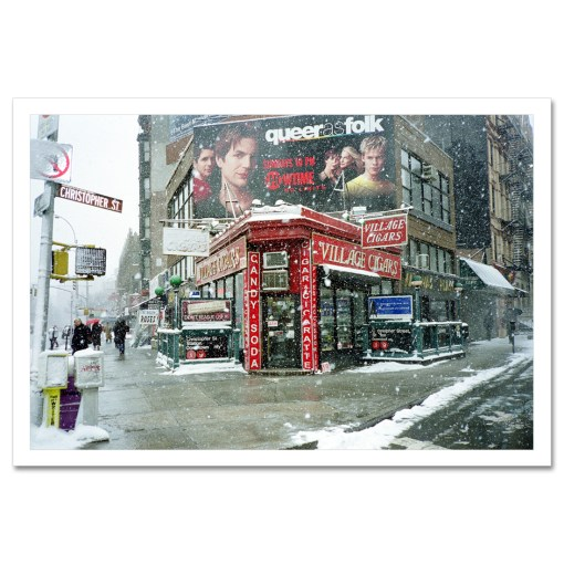 Winter at Village Cigars Art Print Poster MP-1036