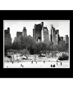 Wollman Rink Panorama Central Park Art Print Poster MP-1042 Black Mat