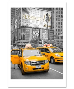 Yellow Cabs on Times Square II Art Print Poster MP-1228
