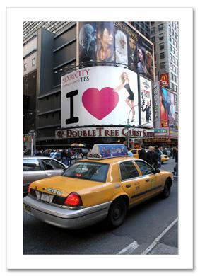 47th Street and Broadway NY Christmas Card HPC-2227