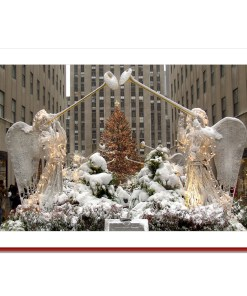 Angels at Rockefeller Center Handmade Photo Card HPC2911