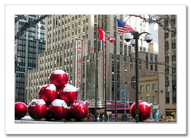 Christmas Ornaments by Radio City NY Christmas Card HPC-2886