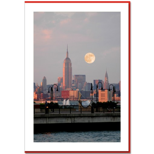 Empire State Building Sunset Handmade Photo Card HPC2309