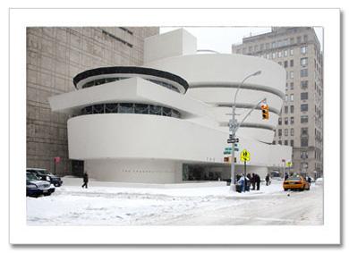 Guggenheim Museum Winter NY Christmas Card HPC-2393