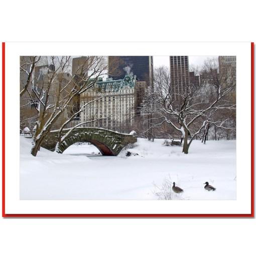 Love Bridge Snow Handmade Photo Card HPC2802