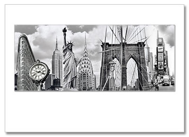 New York City Landmarks Collage NY Christmas Card HPC-2210