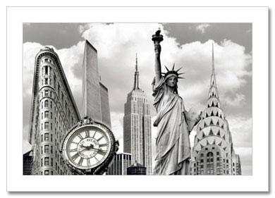 New York Landmarks Collage NY Christmas Card HPC-2103