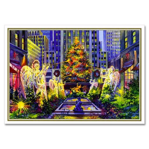 Rockefeller Center Christmas Tree NY Christmas Cards BGC109