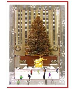 Rockefeller Center Skating Rink NY Christmas Cards CGC8956