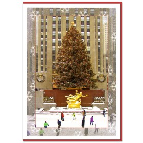 Rockefeller Center Skating Rink NY Christmas Cards CGC8956