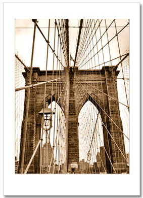 Ropes of Brooklyn Bridge NY Christmas Card HPC-2301
