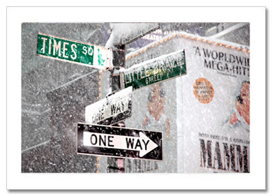 Signs Times Square Winter NY Christmas Card HPC-2494
